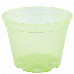 Drainage flowerpot  9,0x 6,5cm. (light green transparent)