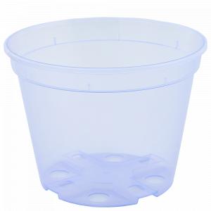 Drainage flowerpot  9,0x 6,5cm. (violet transparent)