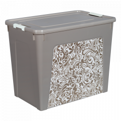 "Контейнер ""Smart Box"" з декором Home 40л. (_какао/б.роза)"