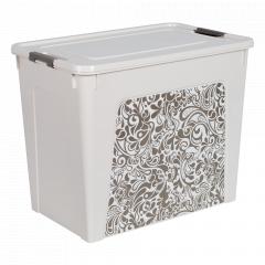 "Контейнер ""Smart Box"" з декором Home 40л. (_б.роза/какао)"
