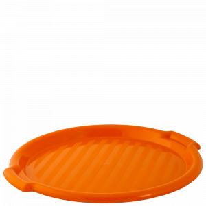 Таця кругла d388,5*24,5мм. (св.оранж.)