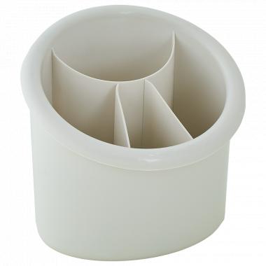 Підставка для столових приборів овальна (біла роза)