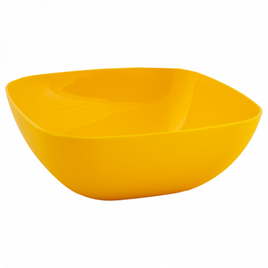 Тарілка глибока 150*150*55мм. (т.жовта)
