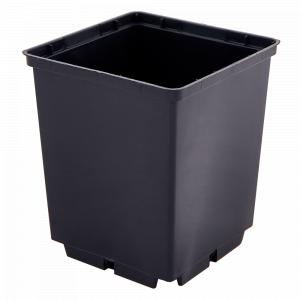Вазон для рассады квадр. 6,0*5,5см. (чёрный)