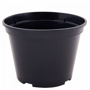 Вазон для розсади круглий 12,0* 9,0см. (чорний)