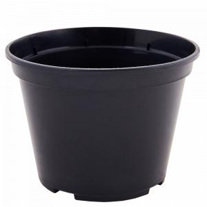 Вазон для розсади круглий 13,0* 9,7см. (чорний)