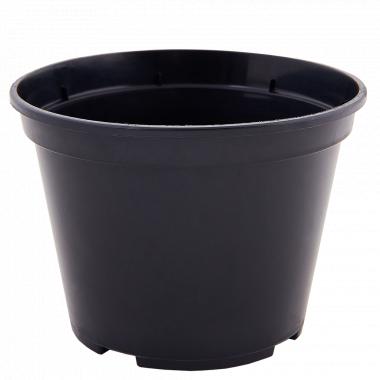 Вазон для розсади круглий 16,0*12,0см. (чорний)