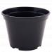 Вазон для розсади круглий 18,0*13,5см. (чорний)