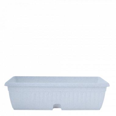 """Вазон """"Терра"""" балконний МК 100*19см. (білий флок)"""