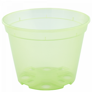 Drainage flowerpot 12,0x 9,0cm. (light green transparent)