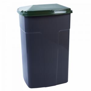 Бак сміттєвий 90л. (т.сірий)