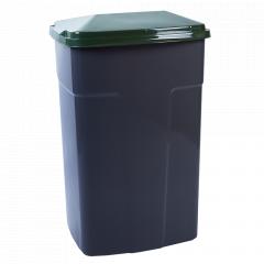Бак сміттєвий 90л. (_т.сірий/зелений)