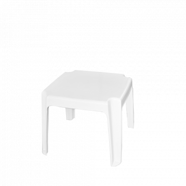 Столик для шезлонга білий