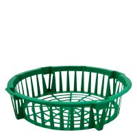 Корзина для лукович. круг. 285*64мм. (зелёная)