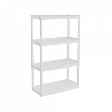 Стелаж універсальний на 4 секції (білий флок)