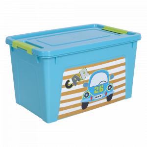 """Контейнер """"Smart Box"""" з декором My Car  3,5л. (_бірюз./бірюз./оливк.)"""